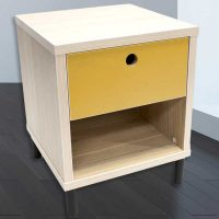 Bedside-1-drawer-natural-and-mustard