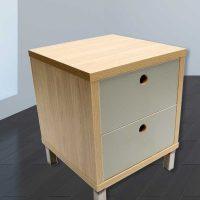 Bedside-2-drawer-natural-and-bayleaf
